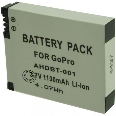 Batterie pour GO PRO AHDBT-001 3.7V Li-Ion 1100mAh