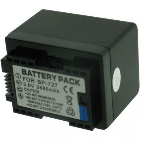 Batterie pour CANON BP 727 3.7V Li-Ion 2550mAh