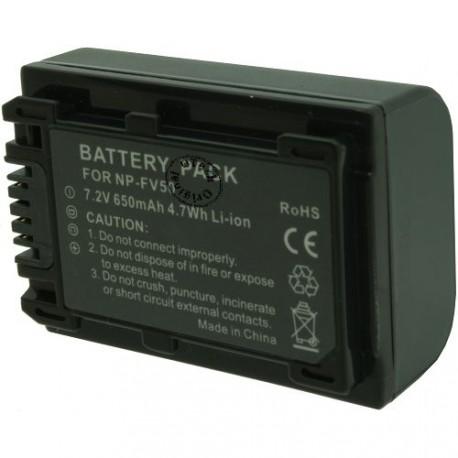 Batterie pour SONY NP-FV50 7.2V Li-Ion 700mAh