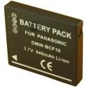 Batterie pour PANASONIC DMW-BCF10 3.7V Li-Ion 850mAh