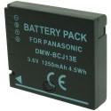 Batterie pour PANASONIC DMW-BCJ13E decode 3.6V Li-Ion 1250mAh