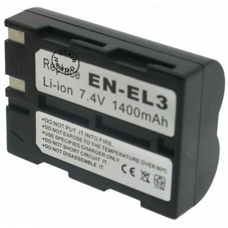 Batterie pour EN-EL3 Black 7.4V Li-Ion 1400mAh