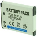 Batterie pour NIKON EN-EL19 3.7V Li-Ion 700mAh