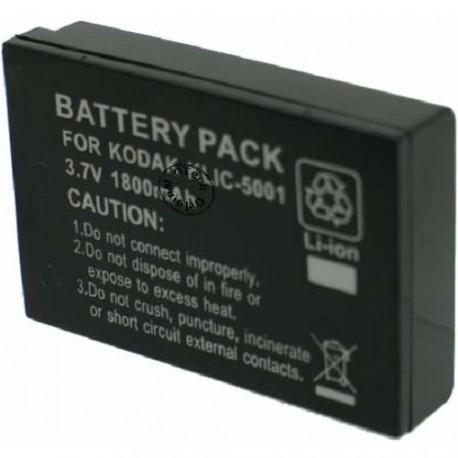 Batterie pour KODAK KLIC-5001 Black 3.7V Li-Ion 1800mAh