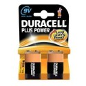 2 Piles 6LR61 9V DURACELL Plus Power