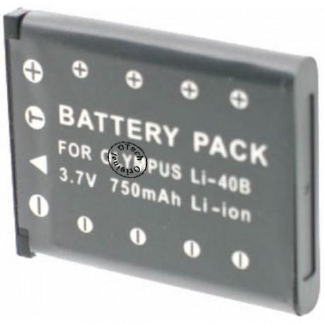Batterie pour OLYMPUS Li-40B 3.7V Li-Ion 850mAh