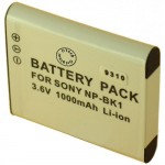 Batterie pour SONY NP-BK1 3.6V 1000mAh