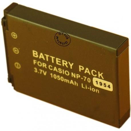 Batterie pour CASIO NP-70 3.7V Li-Ion 1050mAh
