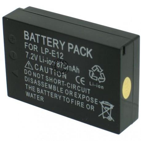 Batterie pour CANON LP-E12 7.4V Li-Ion 875mAh