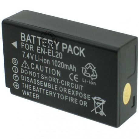 Batterie pour NIKON EN-EL20 7.4V Li-Ion 1020mAh