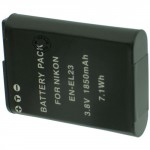 Batterie pour NIKON EN-EL23 3.7V Li-Ion 1850mAh