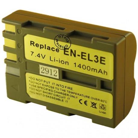 Batterie pour NIKON EN-EL3E 7.4V Li-Ion 1600mAh