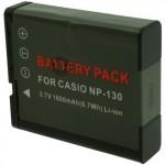 Batterie pour CASIO NP-130 3.7V Li-Ion 1800mAh