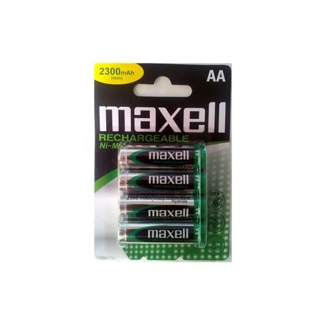 4 Accus AA LR6 NiMH 2300Mah mini MAXELL