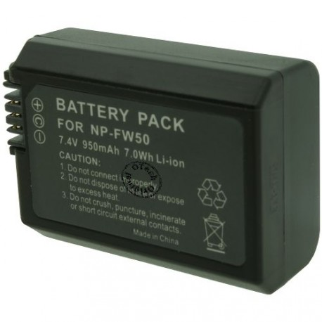Batterie pour SONY NP-FW50 7.4V Li-Ion 950mAh