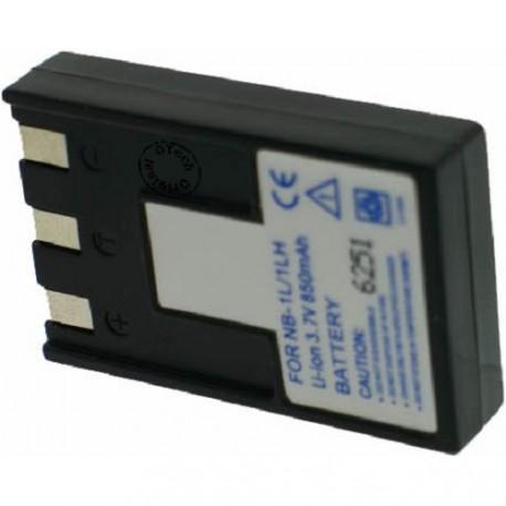 Batterie pour NB-1L / 1LH 3.7V Li-Ion 1000mAh