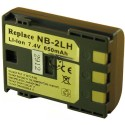 Batterie pour CANON NB-2L 7.4V Li-Ion 650mAh