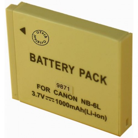 Batterie pour CANON NB-6L 3.7V Li-Ion 1000mAh