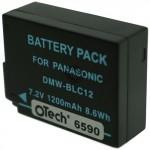 Batterie pour PANASONIC DMW-BLC12 7.4V Li-Ion 1200mAh
