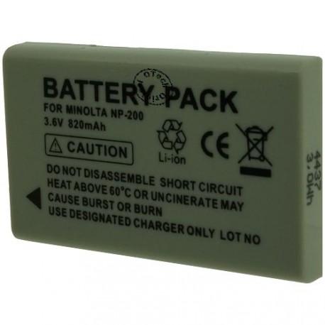 Batterie pour MINOLTA NP-200 3.6V 820mAh