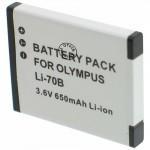 Batterie pour OLYMPUS LI-70B 3.7V Li-Ion 500mAh
