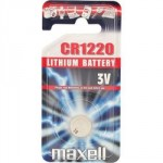 Pile bouton CR1220 Lithium 3V MAXELL
