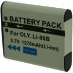 Batterie pour OLYMPUS LI-90B 3.6V Li-Ion 1270mAh