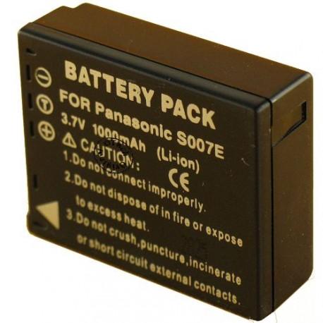 Batterie pour PANASONIC DMW-BCD10 / CGA-S007E 3.7V Li-Ion 1000mAh