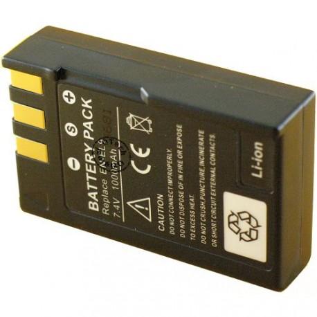 Batterie pour NIKON EN-EL9 7.4V Li-Ion 1000mAh