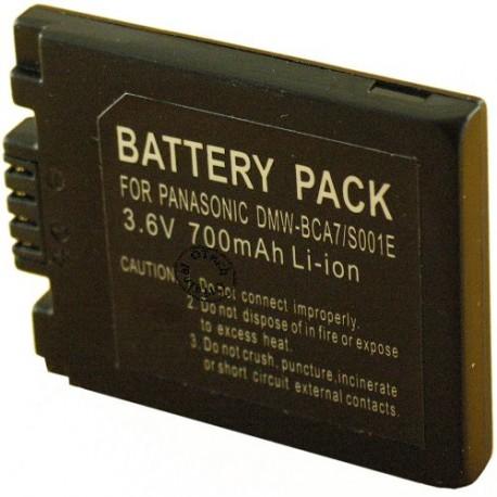 Batterie pour CGA-S001E dark grey 3.6V Li-Ion 700mAh