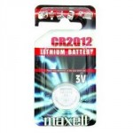 Pile bouton CR2012 Lithium 3V MAXELL
