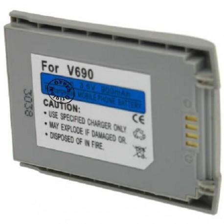 Batterie pour MOTOROLA V690 silver 3.6V Li-Ion 900mAh