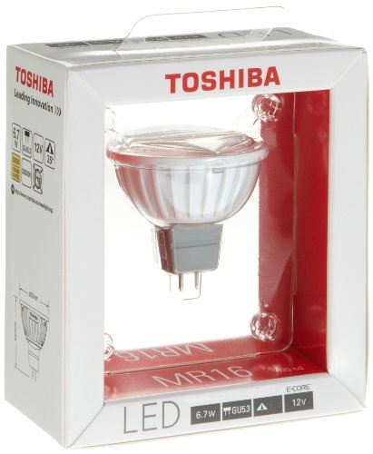 lampe led mr16 6 7w 2700k 25 de marque toshiba. Black Bedroom Furniture Sets. Home Design Ideas