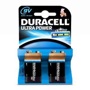 Piles 9v lr22 alcaline 9v duracell ultra power par 2 - Pile 9v rechargeable ...