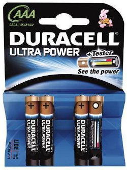 piles lr03 aaa 1 5v duracell ultra power par 4. Black Bedroom Furniture Sets. Home Design Ideas