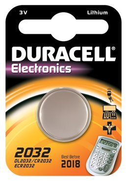 1 pile bouton CR2032 Duracell - pile lithium 3V