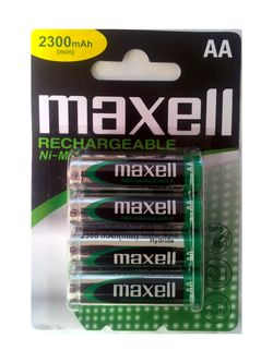pile rechargeable aa nimh maxell blister de 4 lr6 2300 mah. Black Bedroom Furniture Sets. Home Design Ideas