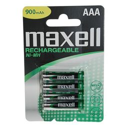pile rechargeable nimh maxell aaa blister de 4 lr03 840mah. Black Bedroom Furniture Sets. Home Design Ideas