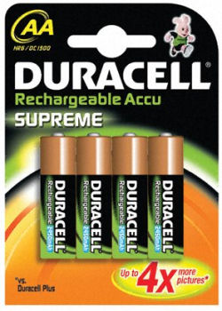 Accu aa nimh 2650 mah par 4 duracell - Pile rechargeable aa ...