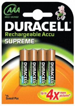 piles rechargeables aaa 1000 duracell supreme par 4. Black Bedroom Furniture Sets. Home Design Ideas