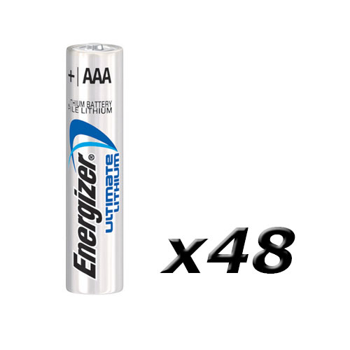 Boite 48 piles Lithium AAA/FR3 Energizer