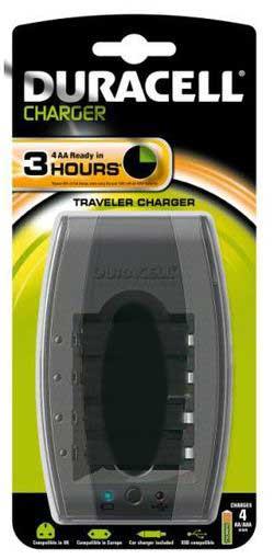 Chargeur rapide de voyage, 1 à 4 accus, USB, cable prise alume cigare