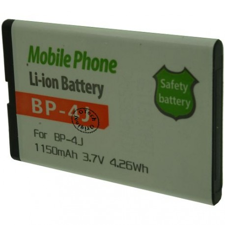 Batterie pour NOKIA BP-4J 3.7V Li-Ion 1150mAh