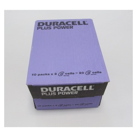 Carton de 20 piles LR20 DURACELL Plus Power