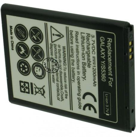Batterie pour SAMSUNG S5360 3.7V Li-Ion 1250mAh