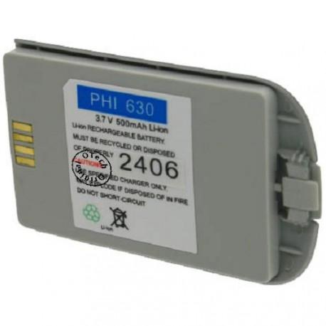 Batterie pour PHILIPS LIPS 630 3.6V Li-Ion 500mAh
