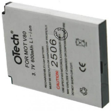 Batterie pour MOTOROLA V80 3.7V Li-Ion 600mAh