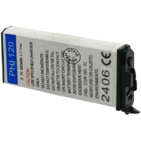 Batterie pour PHILIPS LIPS FISIO 120 / 121 3.7V Li-Ion 650mAh