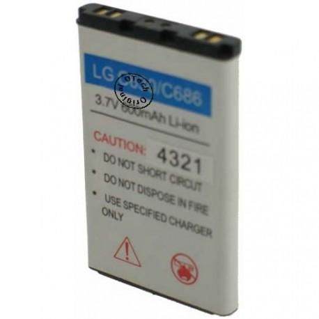 Batterie pour LG C630 / C686 3.7V Li-Ion 600mAh