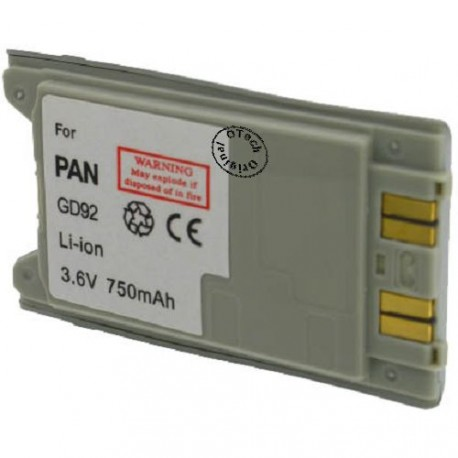 Batterie pour PANASONIC GD92 silver 3.6V Li-Ion 700mAh